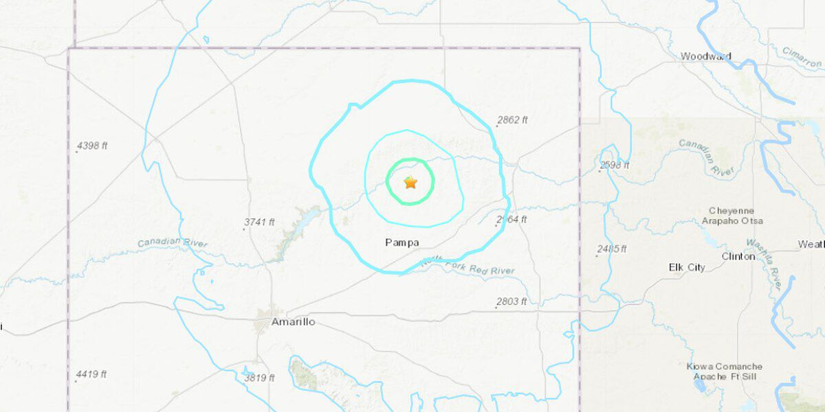 4.3 magnitude earthquake hits near Skellytown