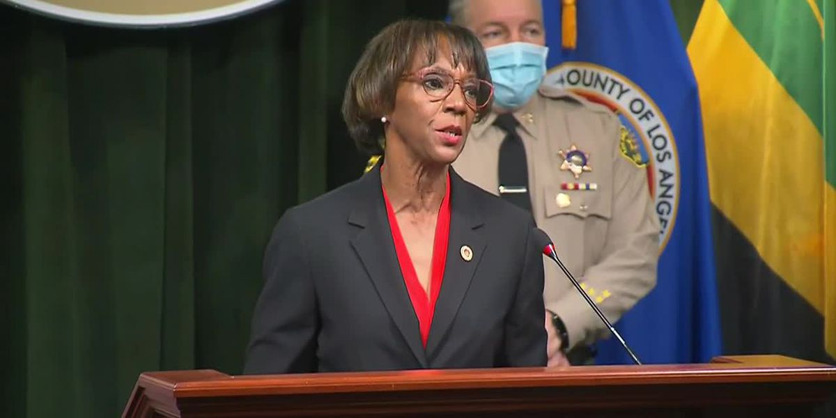 Los Angeles County District Attorney Jackie Lacey speaks about ambush shooting arrest