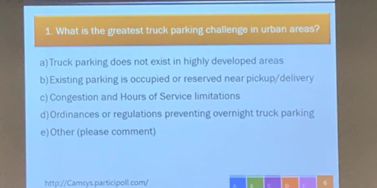 WEBXTRA: Truck parking study addresses needs with cost-effective, innovative strategies