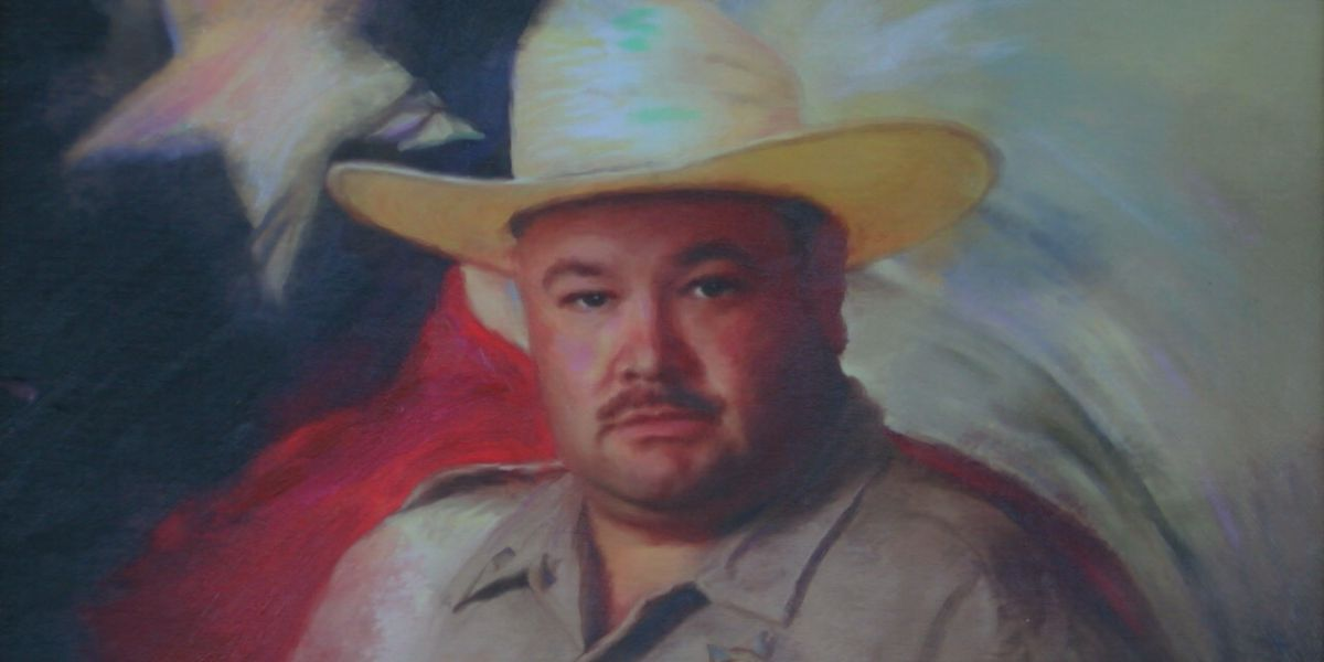 Portrait of fallen Nacogdoches County deputy painted by fellow law enforcement officer