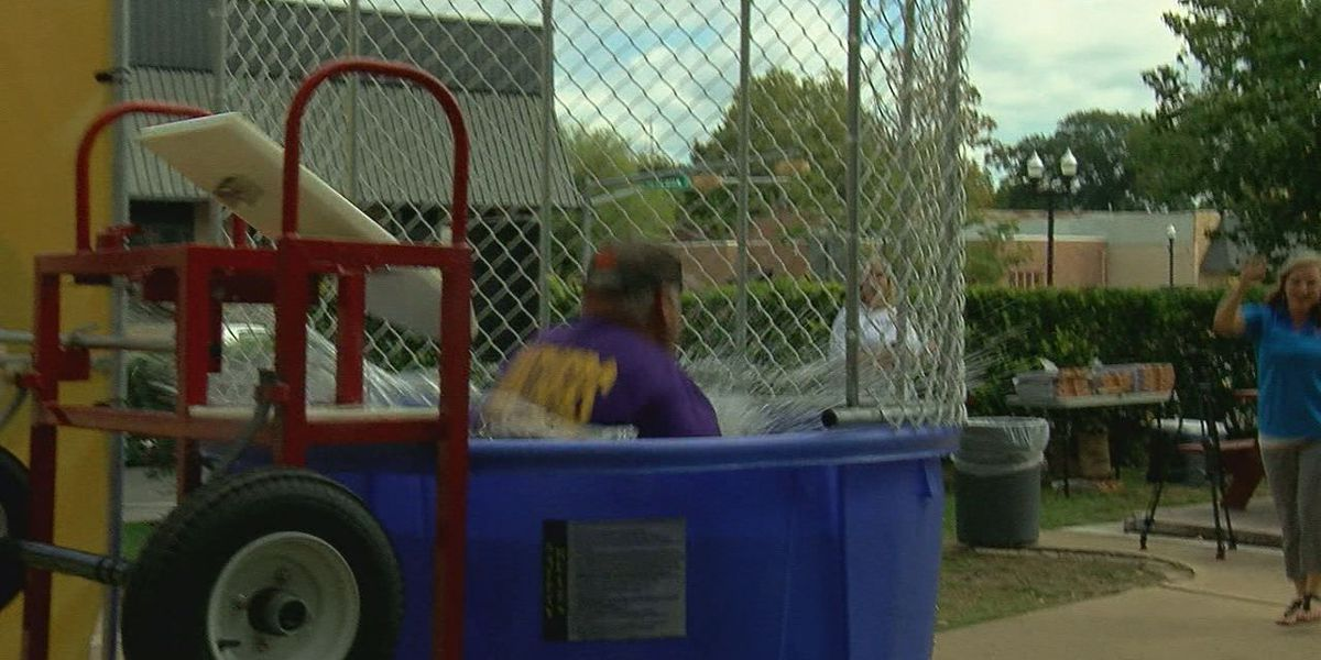 Lufkin leaders take a dunk for awareness