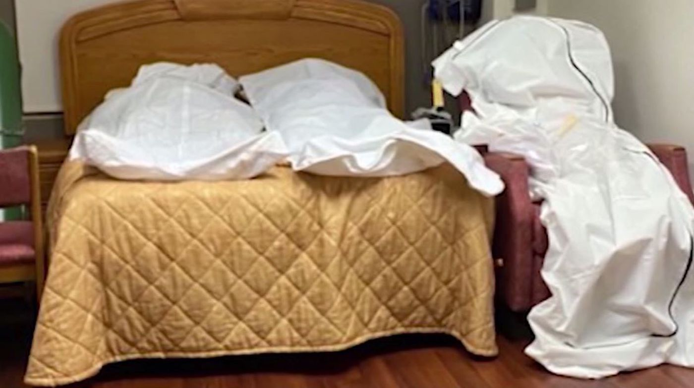 GRAPHIC: Bodies stored in vacant rooms at Detroit hospital overwhelmed by  coronavirus
