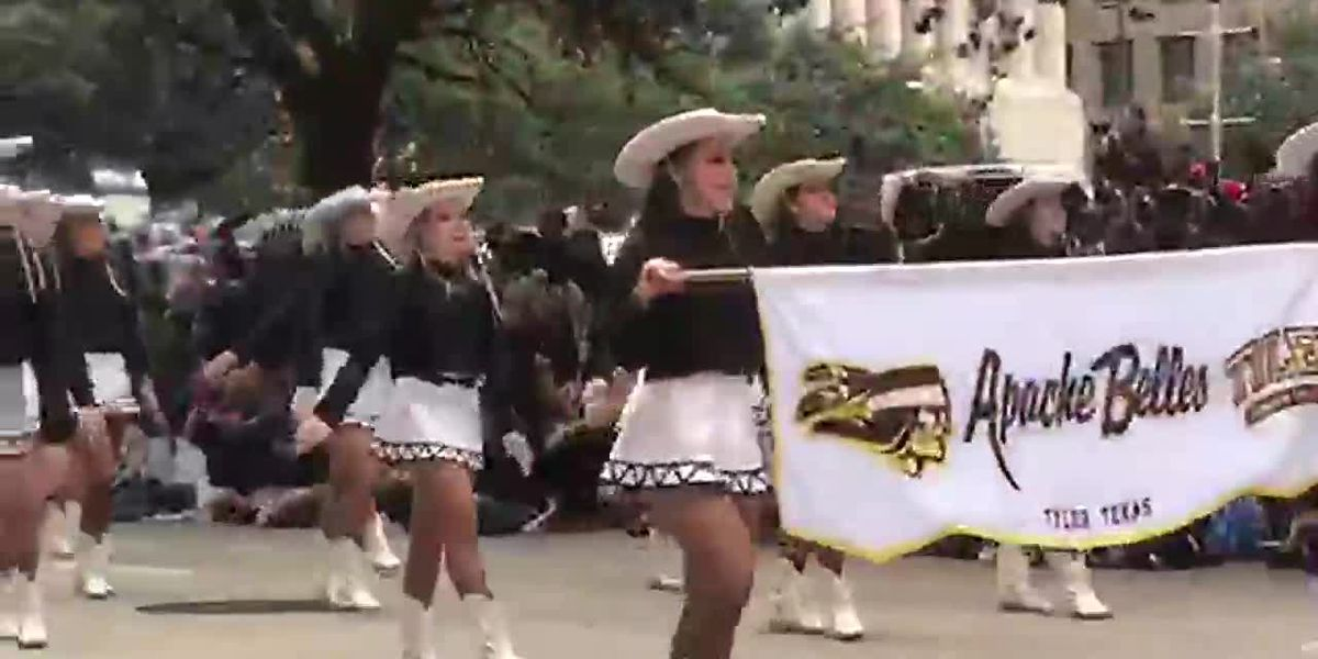 WATCH: The TJC Apache Belles march in Houston Thanksgiving Parade