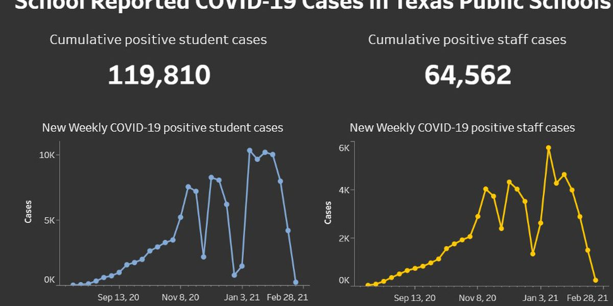 State reports 461 COVID-19 cases in Texas public schools for week