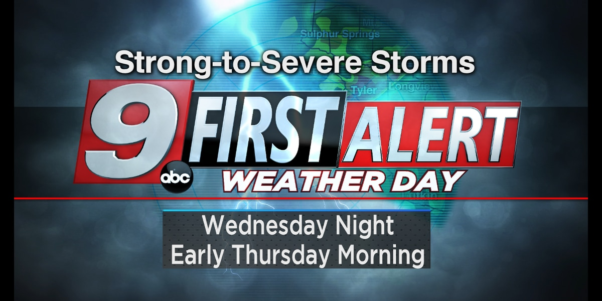 First Alert Weather Day in place Wednesday through Thursday