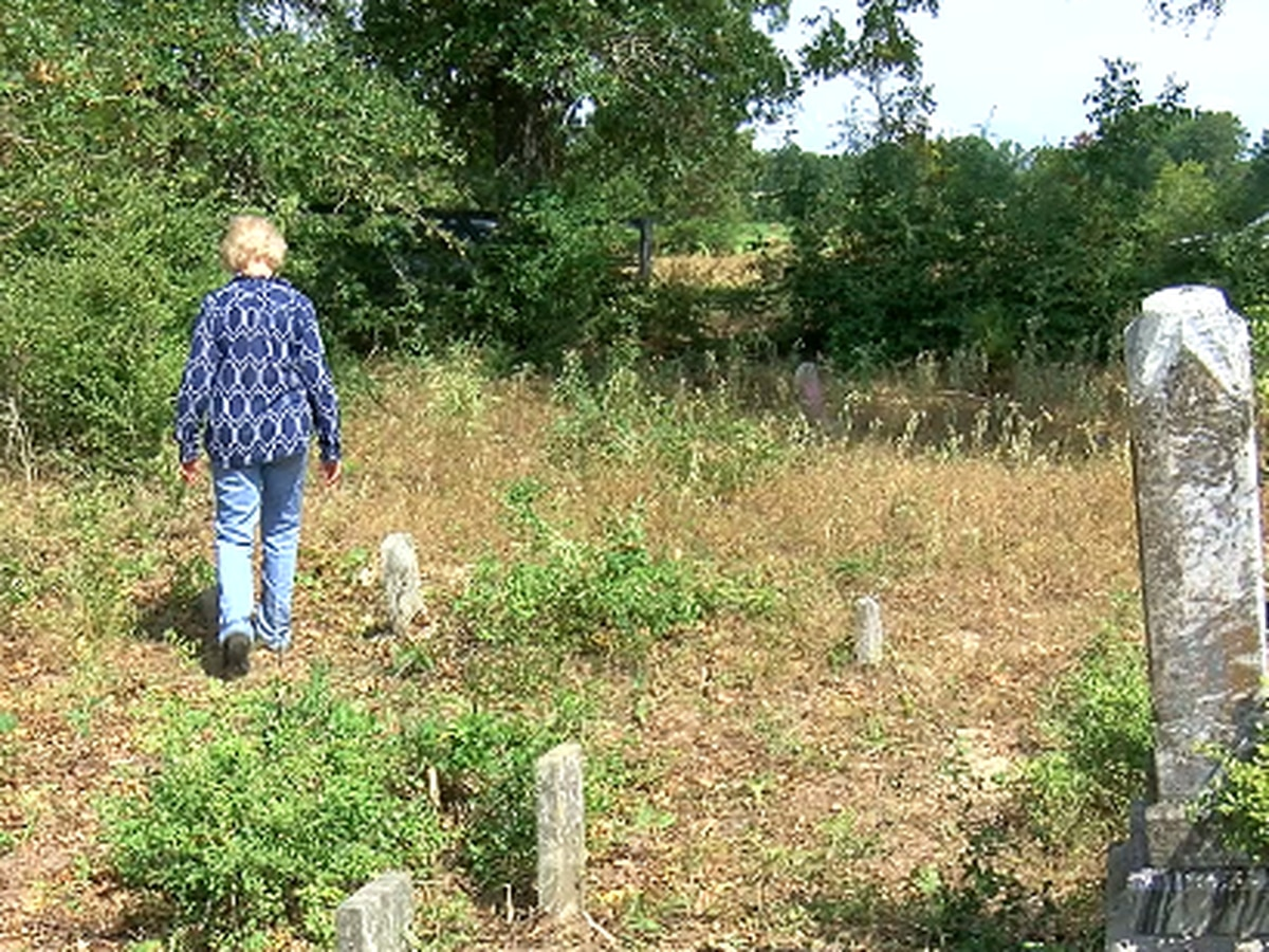 Volunteer day to restore cemetery uncovers headstones and reveals family connections