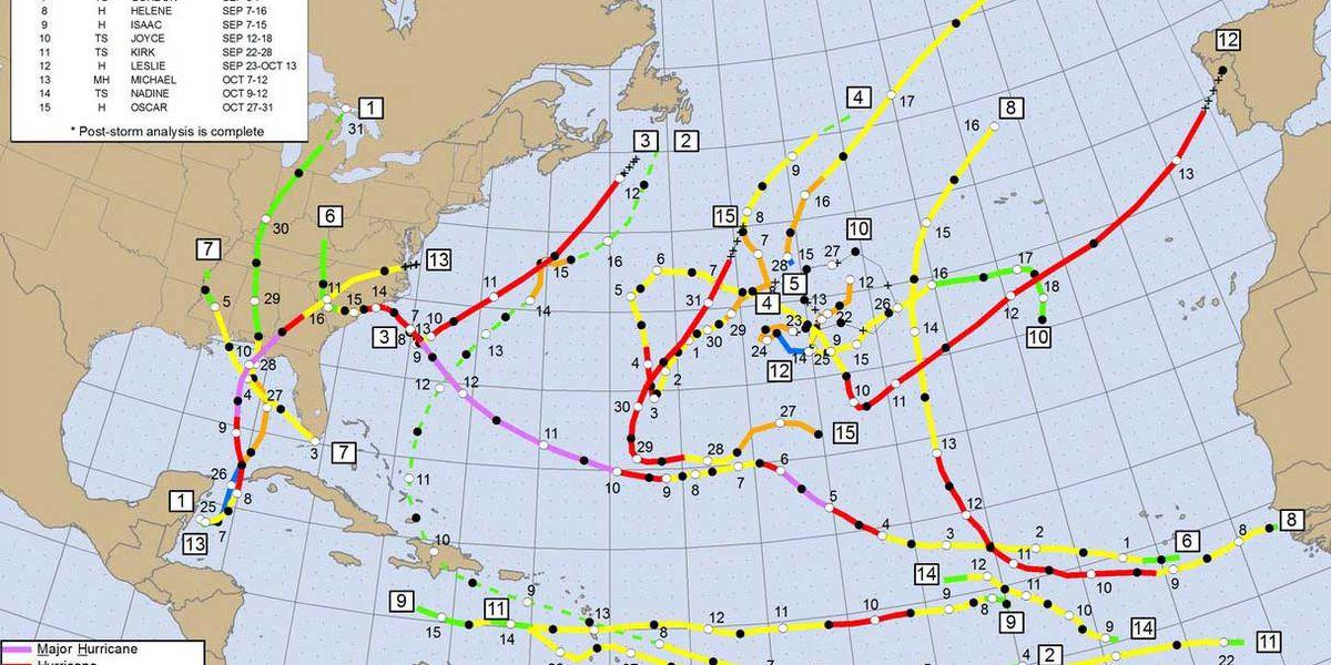 'Above normal' activity in Atlantic during 2018 hurricane season, report says