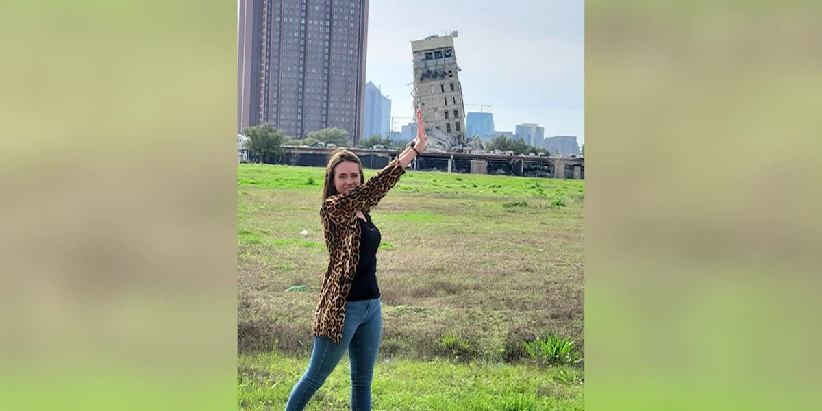 'Leaning Tower of Dallas' goes viral