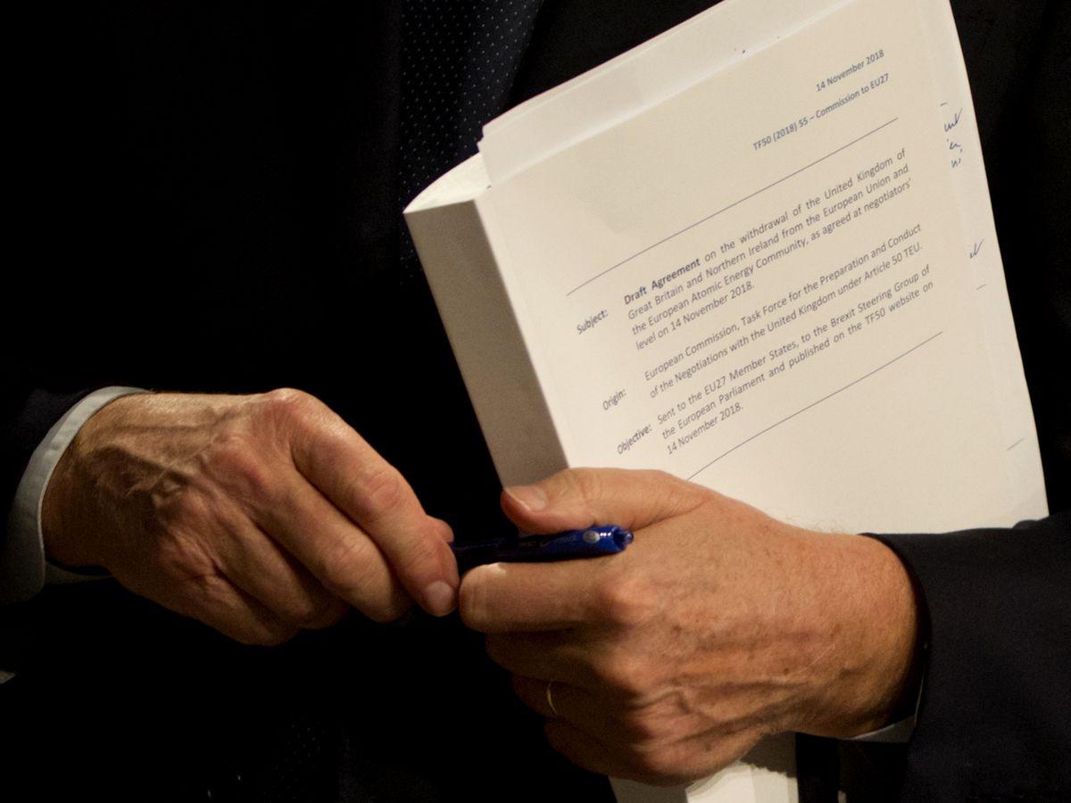 The Latest: EU Parliament member hails draft Brexit deal