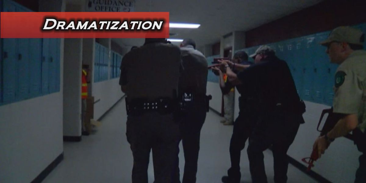 With officer killings fresh on their minds, East Texas agencies run active shooter drill