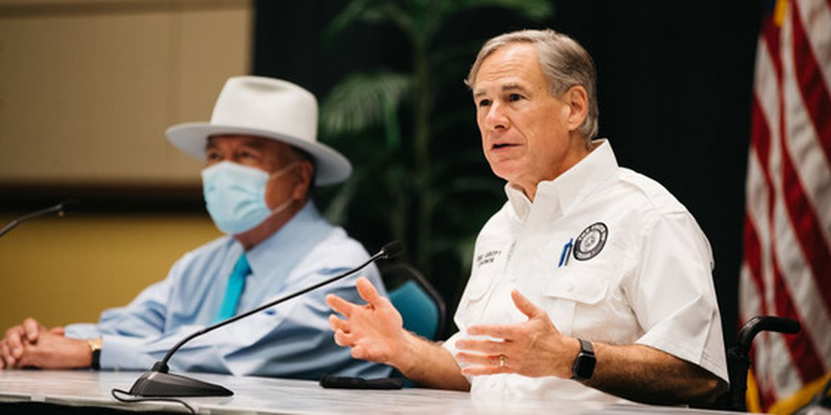 Gov. Abbott visits McAllen convention center's temporary health care facility