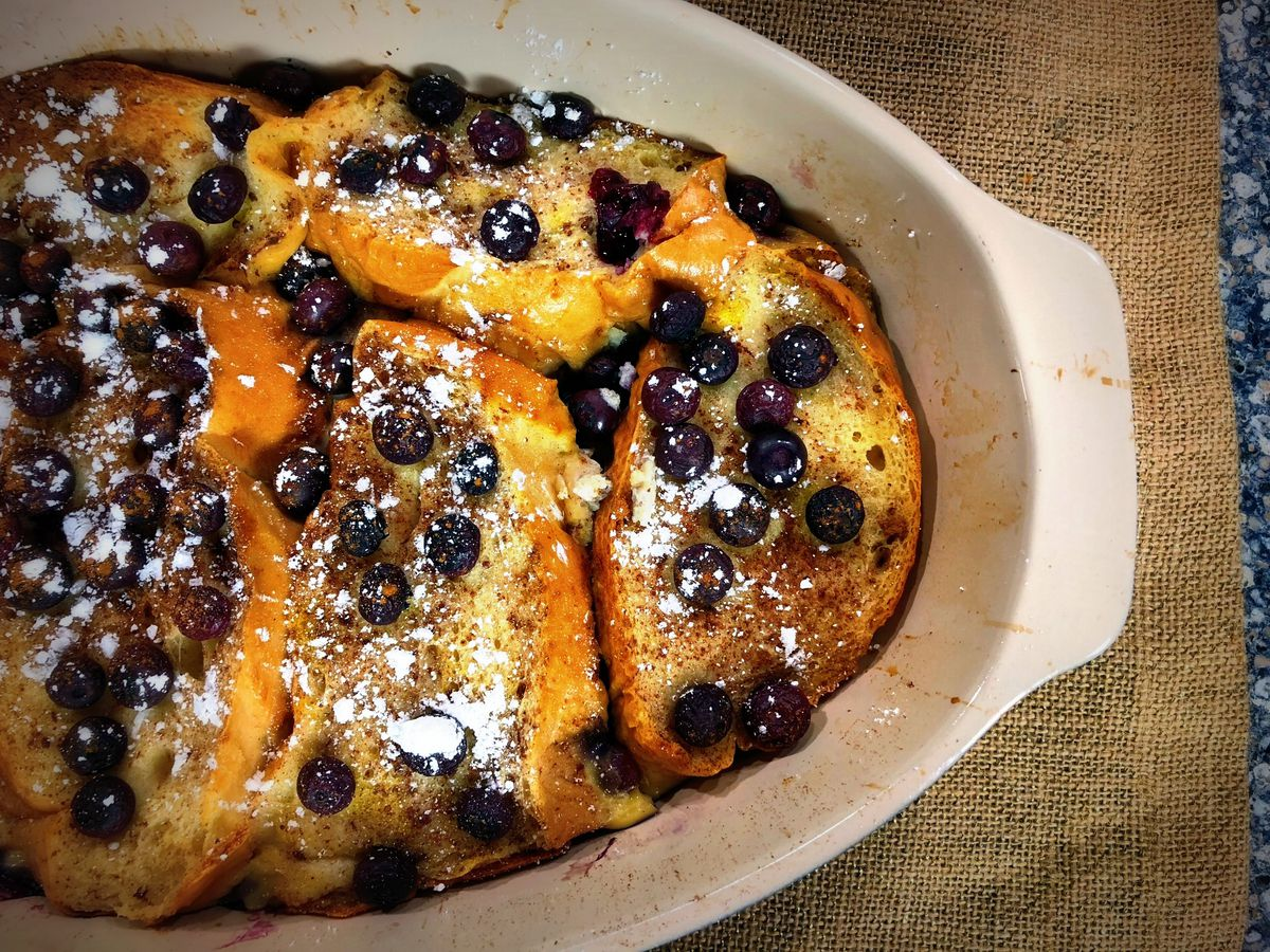 6-ingredient French toast casserole by Mama Steph