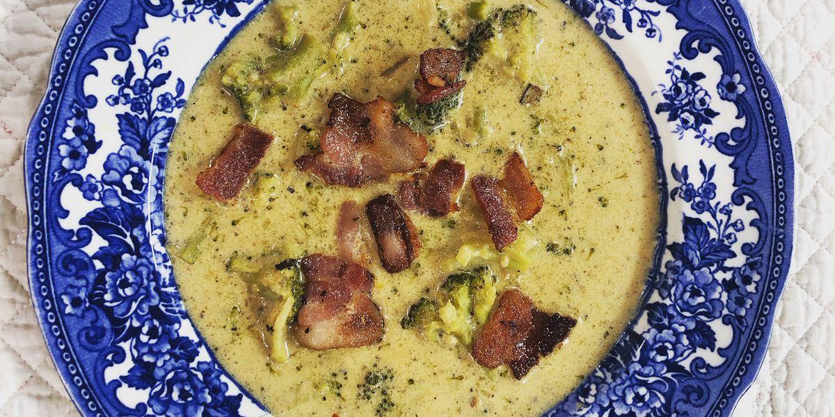 Creamy broccoli-cheese soup by Mama Steph