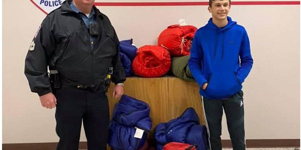 Boy Scout donates sleeping bags for Lufkin Police officers to hand out to homeless