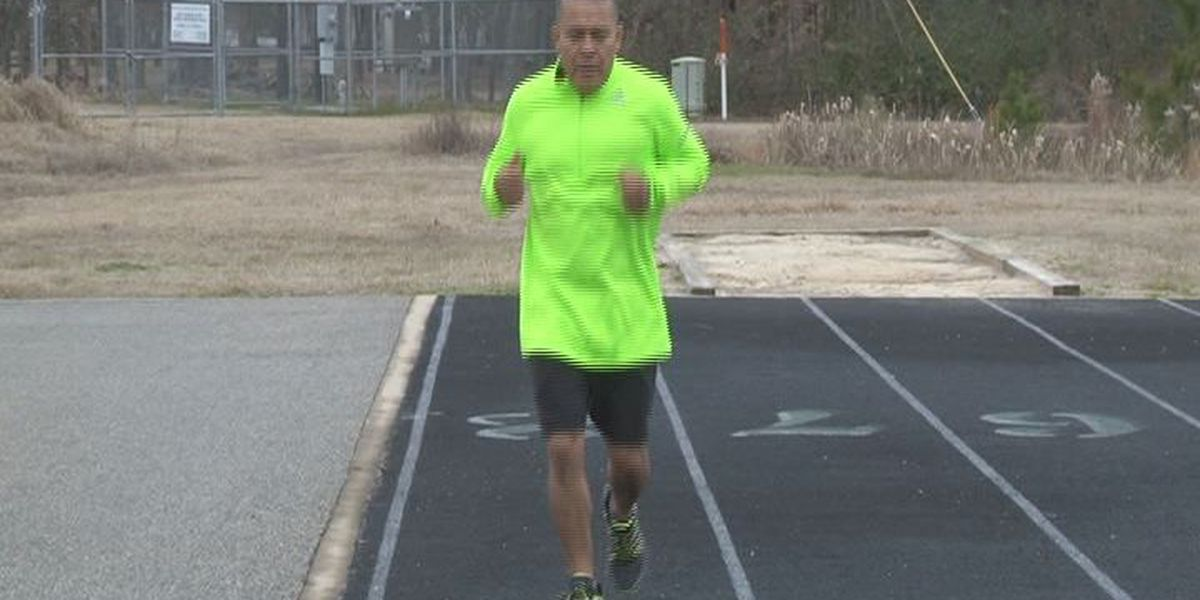 A Pollok man's running shoes saved his health
