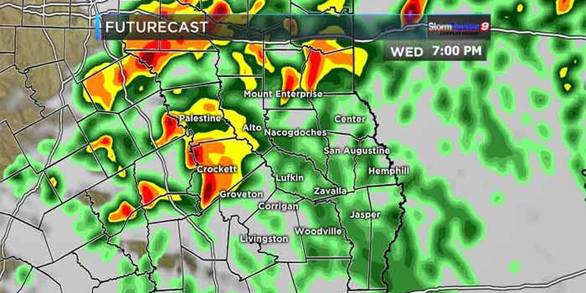 A few strong-to-severe thunderstorms are possible Wednesday