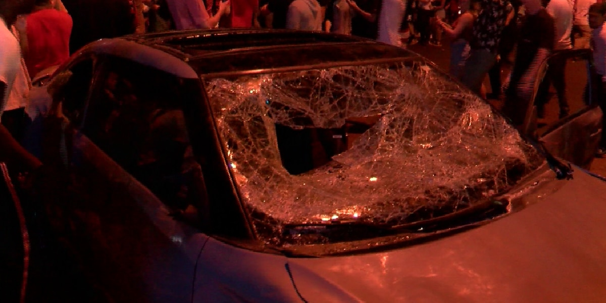 Owner of car vandalized during riot following Tech win: 'Don't park on Broadway'