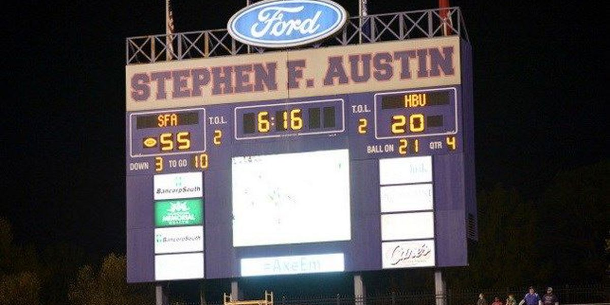 SFA Begins Construction of New Homer Bryce Videoboard