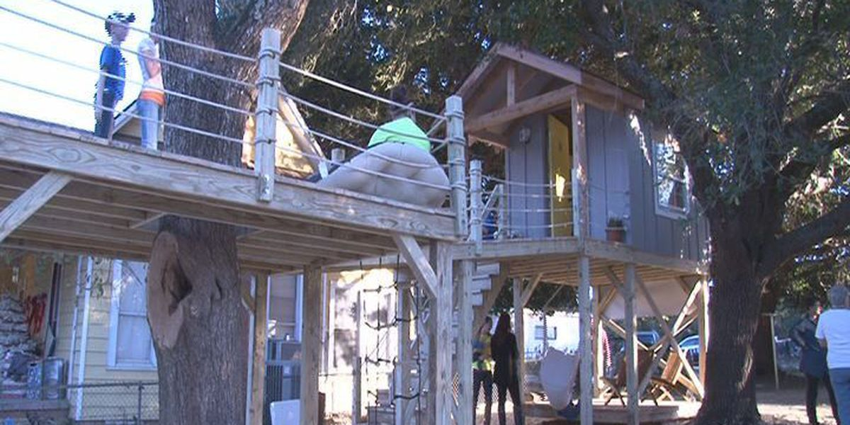 Kennard girl gets dream tree house thanks to Make-A-Wish Foundation