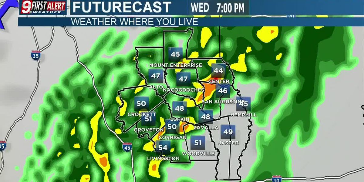 KTRE First Alert Wednesday Evening Webcast