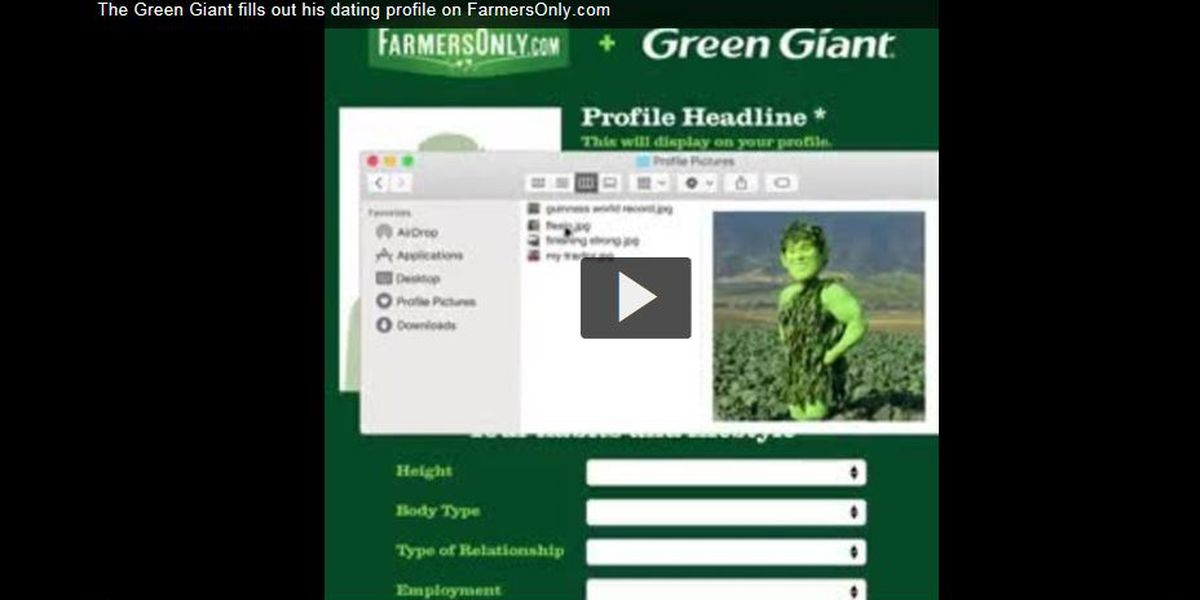 Green Giant joins FarmersOnly.com, says he's 'looking to put down roots'