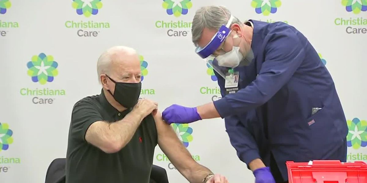 Biden gets 2nd dose of COVID vaccine