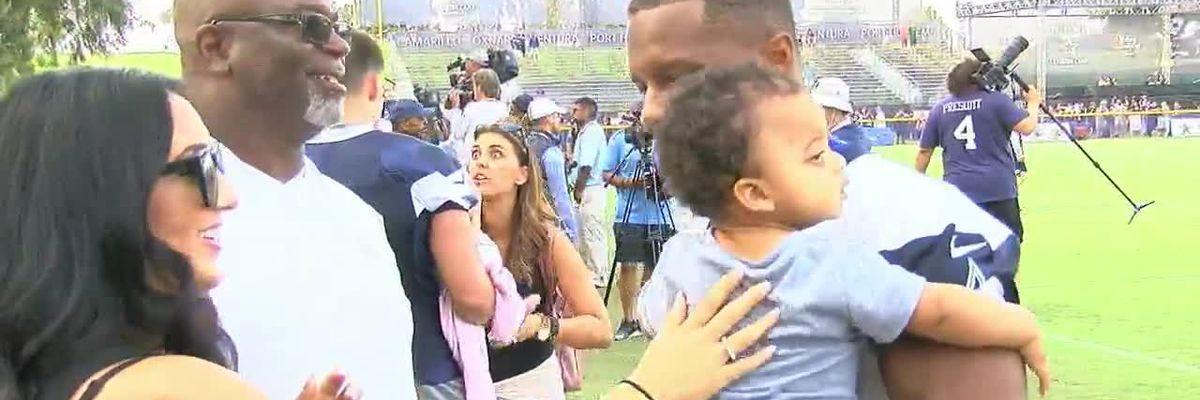 VIDEO: Dallas Cowboys players talk family, work-life balance at training camp