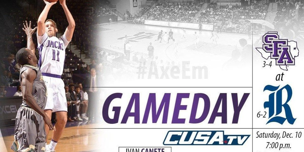 Final December road game takes SFA to Houston for Saturday night battle with Rice
