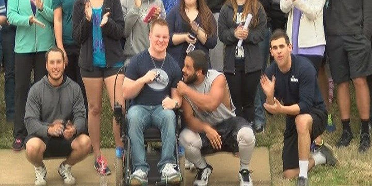 SFA student battling Cerebral Palsy inspires others with journey to walk again