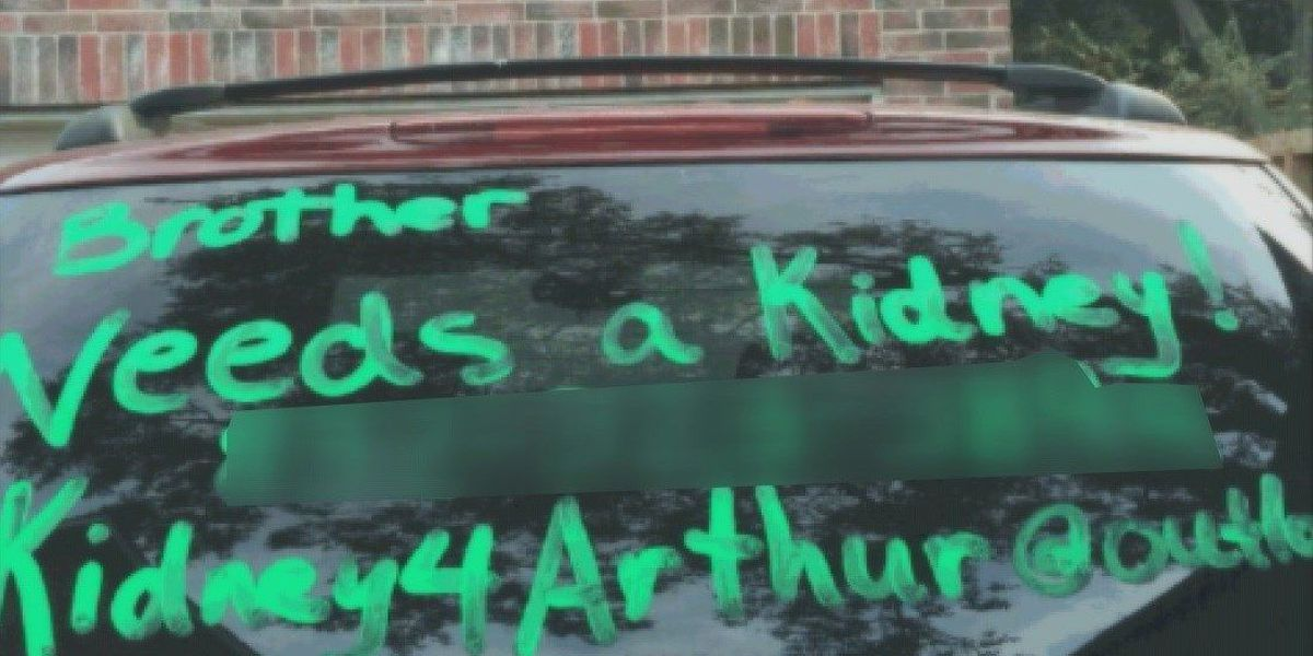 East Texas woman donates kidney to stranger after seeing message on car