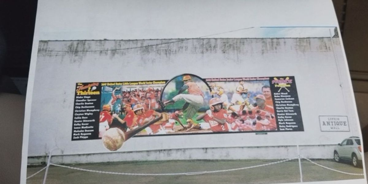Lufkin council approves contract to maintain Little League mural