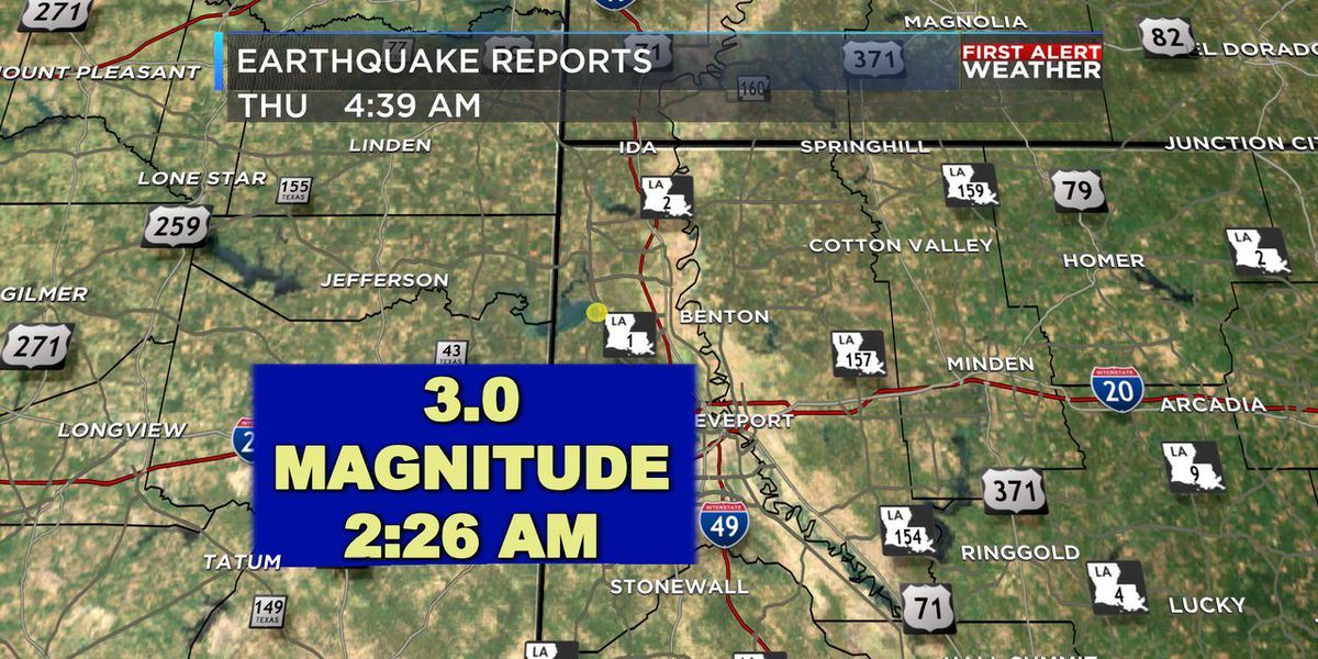 Early morning earthquake recorded in Caddo Parish