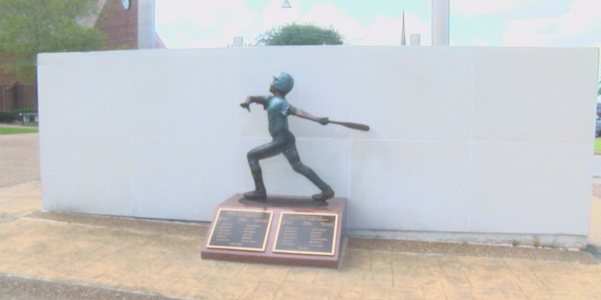 Statue honoring Lufkin Little League and junior league on display at Pitser Garrison Convention Center