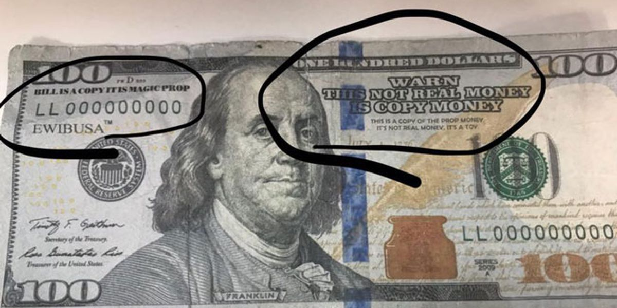 Trinity County Sheriff: Fake money is being distributed at local businesses, banks