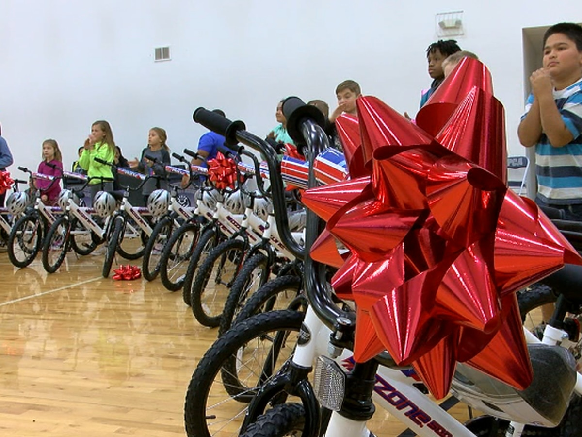 Lufkin students benefit from spirit of giving in annual Christmas bike giveaway