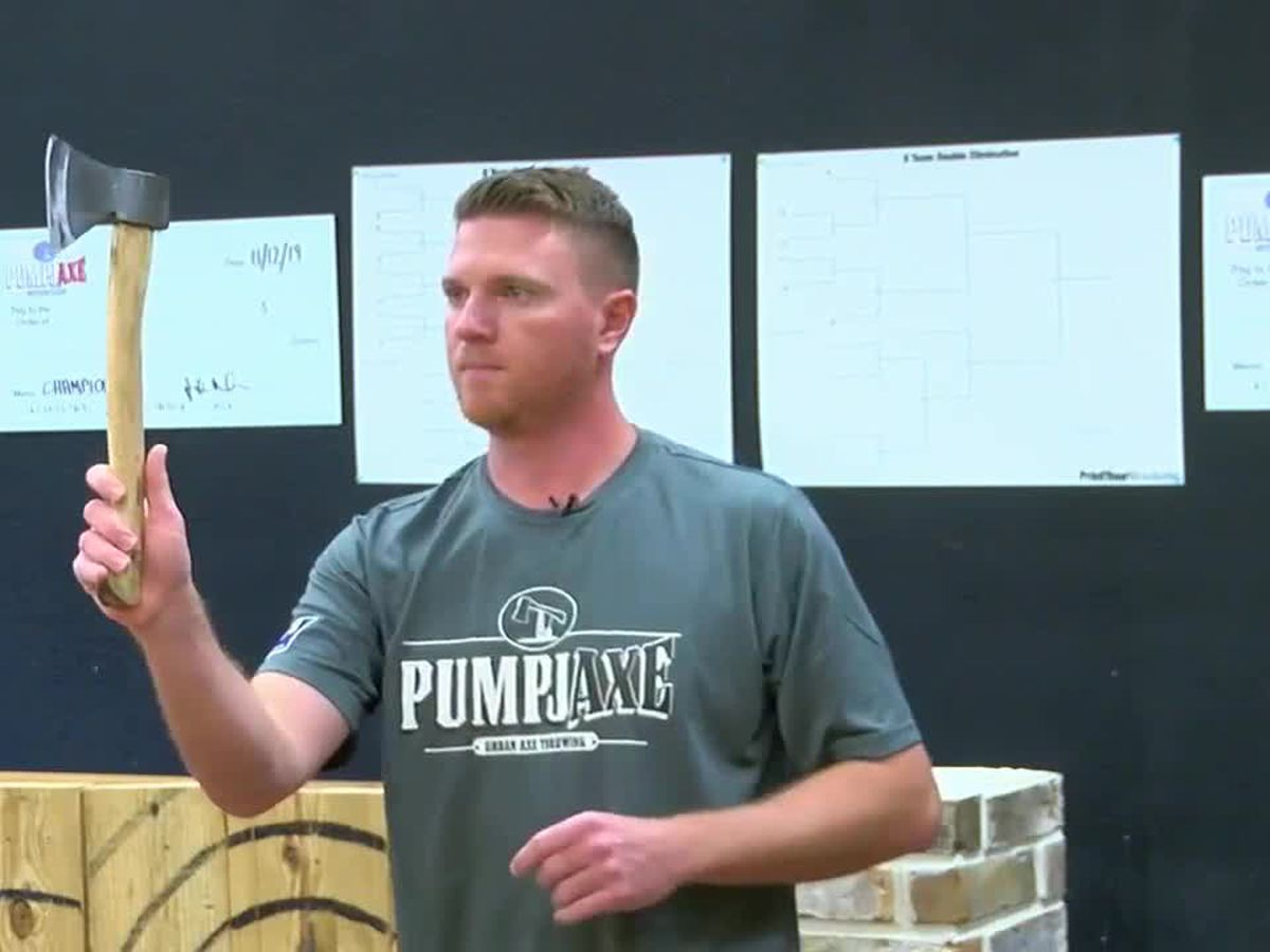 East Texan will compete next month in Phoenix in World Axe Throwing Championships