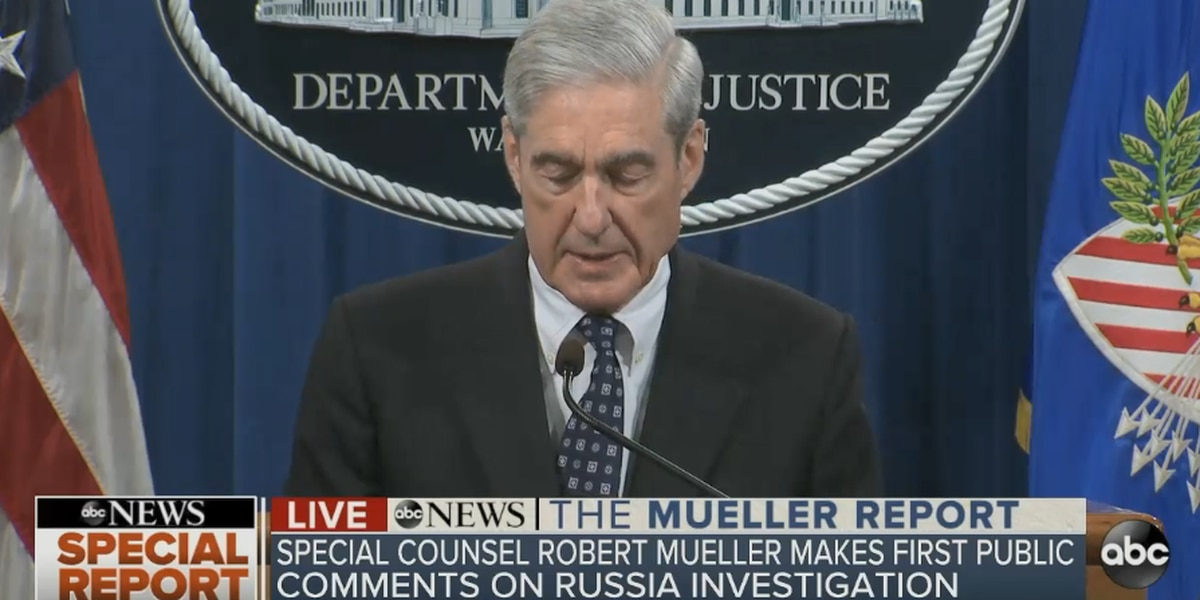 LIVE: Mueller makes public statement on Russia probe