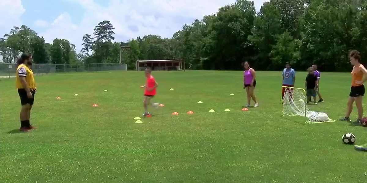 VIDEO: Kids learn soccer skills through summer camp in Diboll
