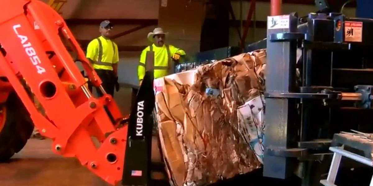 Donation funds cardboard baler, which will streamline recycle process for City of Nacogdoches