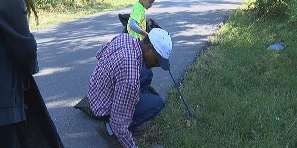 Community leaders and members clean up streets in North Lufkin