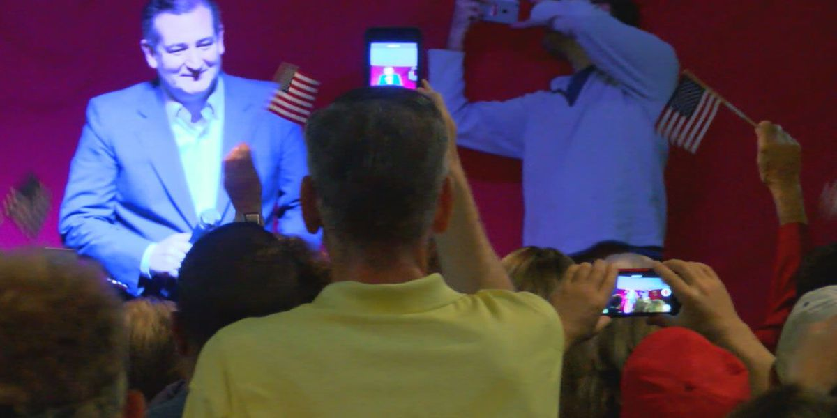 Sen. Ted Cruz touts low unemployment numbers at Nacogdoches rally