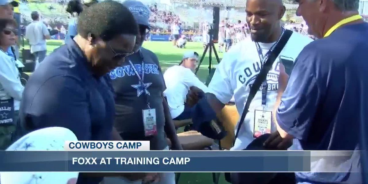 Cowboys Camp: Actor, musician (and former Terrell High School QB) Jamie Foxx makes appearance Tuesday