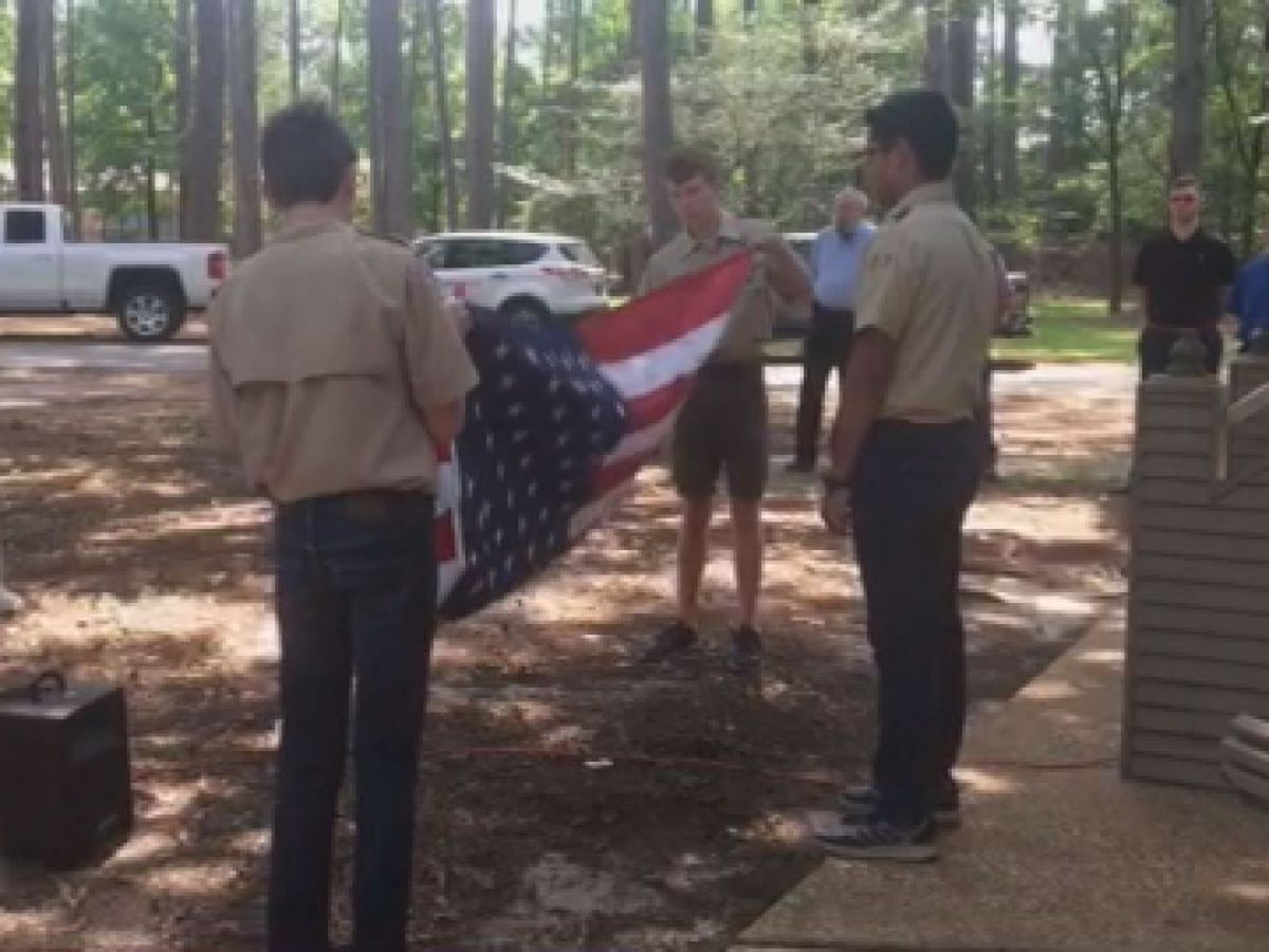 Flag burial ceremony held in Angelina County in honor of Flag Day