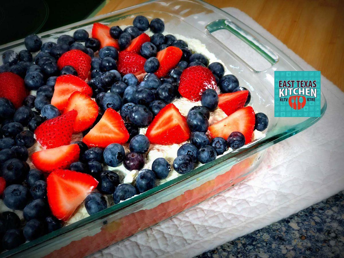 Summer berry poke cake by Mama Steph