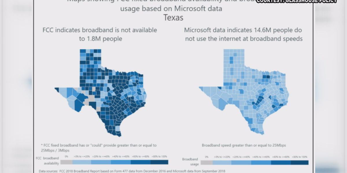 Texas Senate passes bill to increase access to high-speed internet in rural areas of state