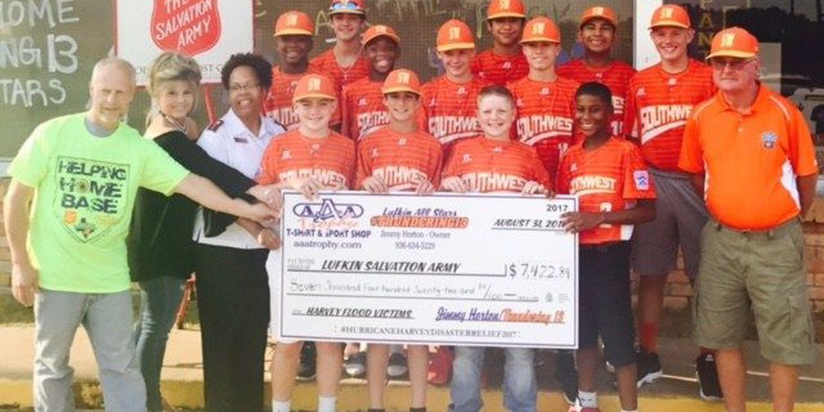 Thundering 13 give generous donation to Harvey Relief efforts