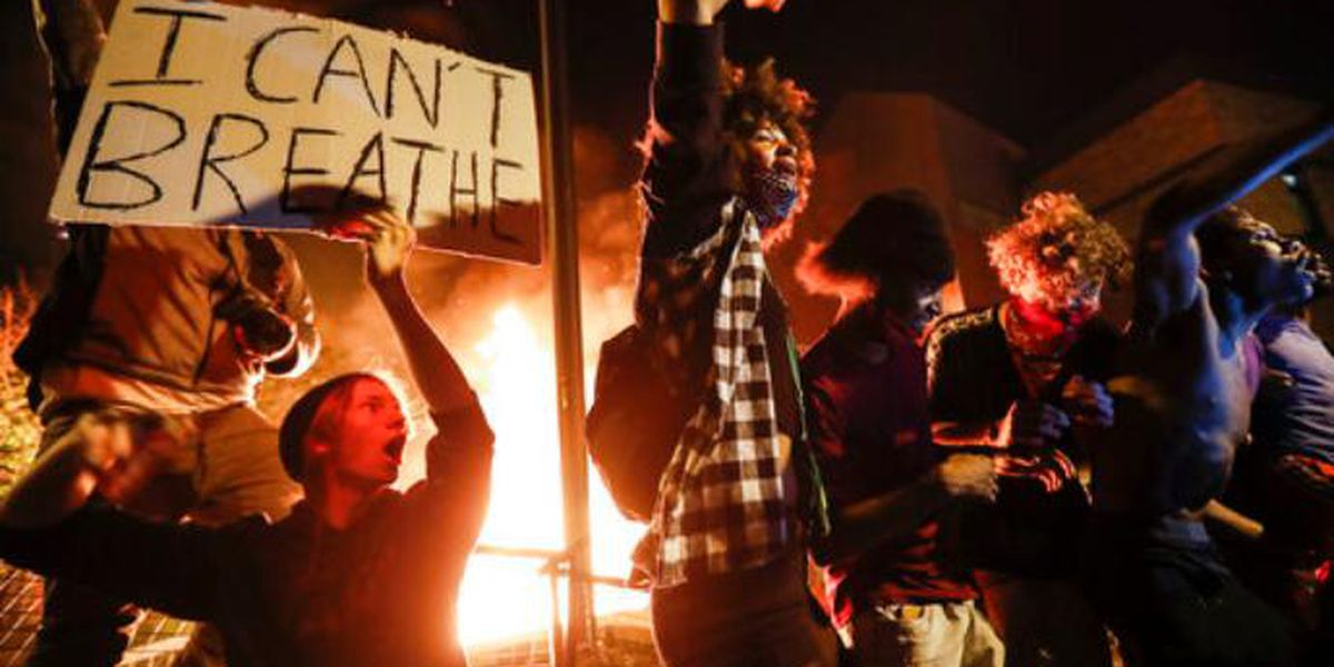 Fiery Atlanta rally among US protests of George Floyd death