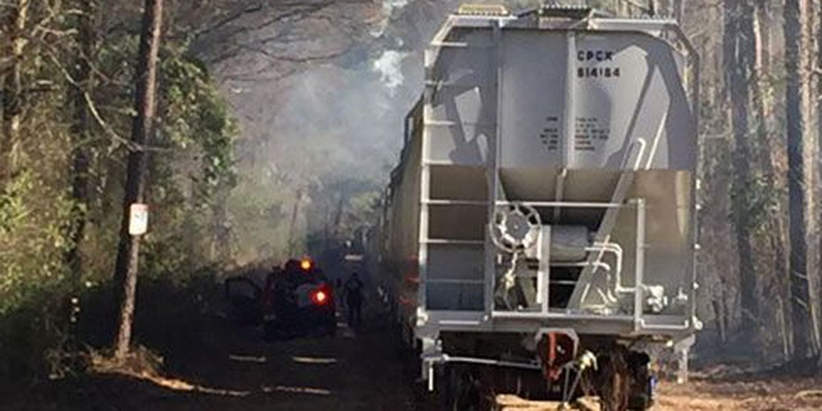 Angelina Co. controlled burn gets out of control, spreads to woods, train cars