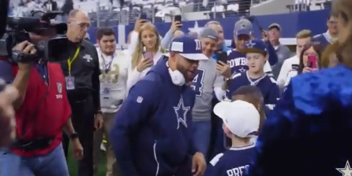 Marshall boy receives tickets to Super Bowl from Dak Prescott