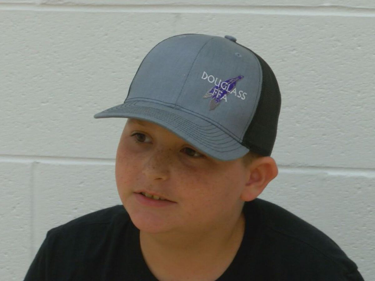 Douglass boy donates over $11,000 to deputy's family